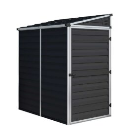 Pent Storage Shed 4x6 Midnight Grey
